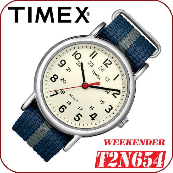 TIMEX【T2N654】WEEKENDER CENTRAL PARK FULL SIZE 38mm径 タイメックス ウィークエンダー セントラルパーク メンズ クォーツ腕時計 ナイロンベルト ネイビー×グレー 並行輸入【新品】『宅配便』で全国*送料無料*