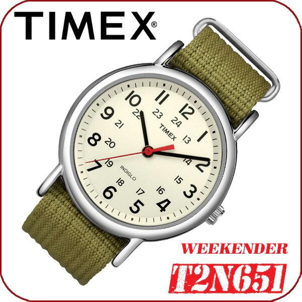 在庫有り!即納可『宅配便』で全国*送料無料*【あす楽対応】TIMEX WEEKENDER CENTRAL PARK【T2N651】FULL SIZE 38mm径 タイメックス ウィークエンダー セントラルパーク メンズ クォーツ腕時計 ナイロンベルト カーキグリーン 並行輸入【新品】