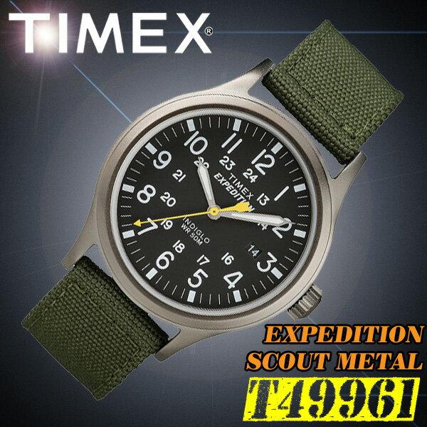 TIMEX【T49961】EXPEDITION SCOUT METALFULL タイメックス エクスペディション スカウト メタル メンズ クォーツ 腕時計 ナイロンベルト カーキグリーン 並行輸入【新品】『宅配便』で全国*送料無料*