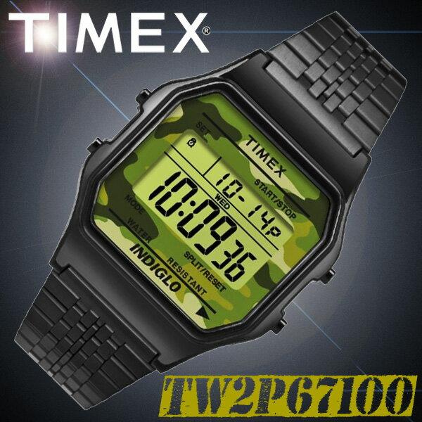 TIMEX【TW2P67100】CLASSIC DIGITAL 34mm幅 タイメックス クラシックデジタル メンズ/レディース/ユニセックス QUARTZ クォーツ デジタル 腕時計 カモフラージュ 迷彩 並行輸入【新品】『宅配便』で全国*送料無料*