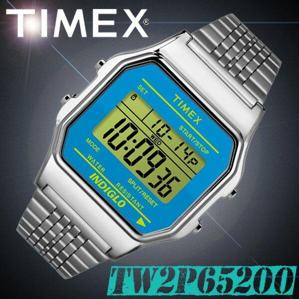 在庫有り!即納可【あす楽対応】TIMEX【TW2P65200】CLASSIC DIGITAL 34mm幅 タイメックス クラシックデジタル メンズ/レディース/ユニセックス QUARTZ クォーツ デジタル 腕時計 ブルー×シルバー 並行輸入【新品】