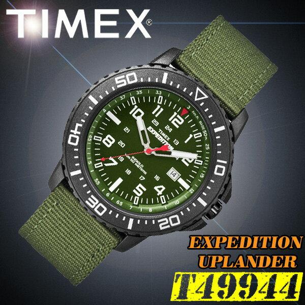 TIMEX【T49944】EXPEDITION UPLANDER タイメックス エクスペディション アップランダー メンズ クォーツ 腕時計 クロスベルト カーキグリーン 並行輸入【新品】『宅配便』で全国*送料無料*