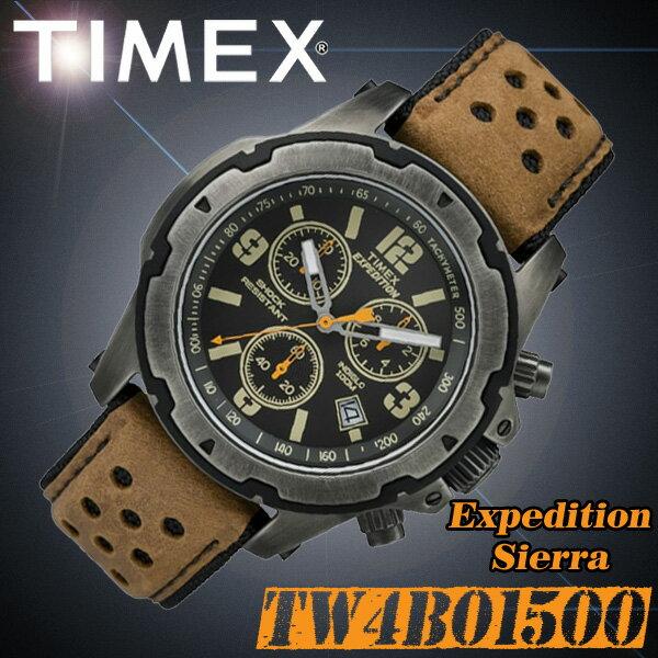 TIMEX【TW4B01500】EXPEDITION Sierra タイメックス エクスペディション シエラ メンズ クォーツ 腕時計 レザーベルト タンブラウン 並行輸入【新品】『宅配便』で全国*送料無料*