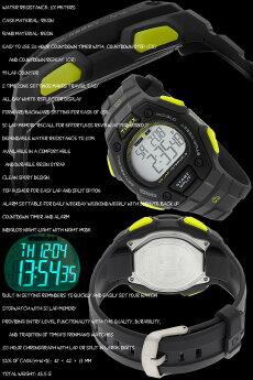 TIMEX【TW5K86100】IRONMAN50-LAPFULLSIZEタイメックスアイアンマン50ラップメンズクォーツ腕時計ランニングウォッチダークグレーイエロー黄並行輸入【新品】