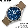 TIMEX【TW4B01800】EXPEDITIONSCOUTMETALタイメックスエクスペディションスカウトメタルメンズクォーツ腕時計レザーベルトアウトドア並行輸入【新品】『宅配便』で全国*送料無料*