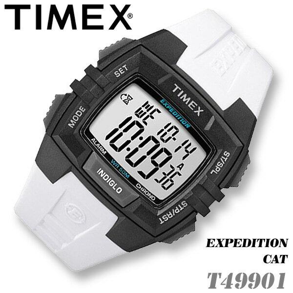 TIMEX【T49901】EXPEDITION CAT DIGITAL タイメックス エクスペディション デジタル メンズ クォーツ 腕時計 ホワイト×ブラック 並行輸入【新品】