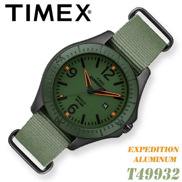 TIMEX【T49932】EXPEDITION ALUMINUM タイメックス エクスペディション アルミニウム メンズ クォーツ 腕時計 ナイロンベルト カーキグリーン 並行輸入【新品】『宅配便』で全国*送料無料*