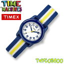 TIMEX KIDS TW7C05800 タイメックス キッズ 子供用 アナログ 腕時計 ネイビー ホワイト×イエロー ストライプ 並行輸…