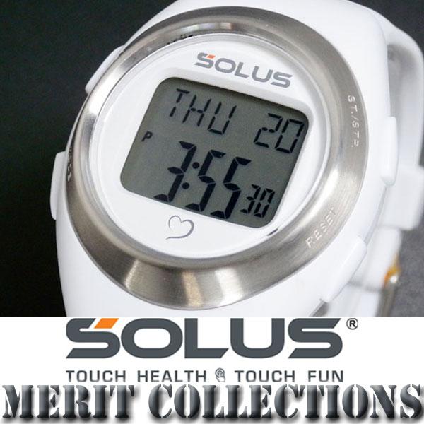 SOLUS ソーラス 腕時計デジタル 心拍計測機能付き 01-800-202 白 ホワイト
