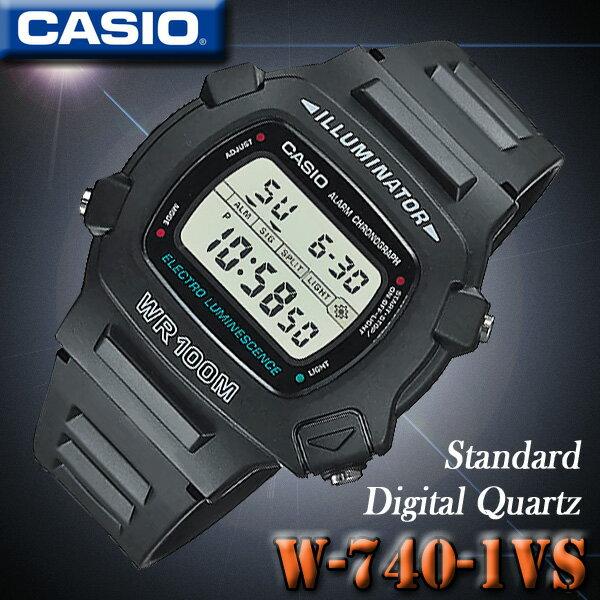 CASIO W-740-1 STANDARD DIGITAL カシオ スタンダード デジタル クォーツ メンズ 腕時計 オーバルシェイプ【国内未発売】海外モデル【新品】