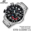 CASIO EDIFICE EFR-558DB-1A カシオ エディフィス クォーツ クロノグラフ メンズ 腕時計【10気圧防水】海外モデル【新…