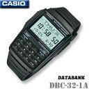 CASIO DATABANK DBC-32-1A カシオ データバンク 電卓付 腕時計 テレメモ25 電池寿命約10年 海外モデル【新品】チプカシ