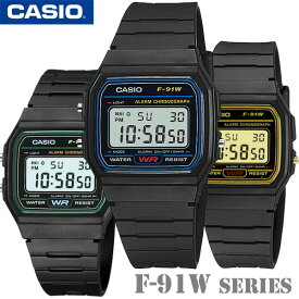 CASIO F-91W Series Standard Digital F-91W-1【ブルー】F-91W-3【グリーン】F-91WG-9【ゴールド】カシオ スタンダード デジタル クォーツ 腕時計ユニセックス 男女兼用【国内 F-91W-1JF と同型】海外モデル【新品】チプカシ*送料無料*