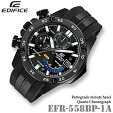 CASIOEDIFICEEFR-558BP-1Aカシオエディフィスクォーツクロノグラフメンズ腕時計BLACKIP【10気圧防水】海外モデル【新品】