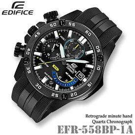 fcc5c3871d CASIO EDIFICE EFR-558BP-1A カシオ エディフィス クォーツ クロノグラフ メンズ 腕時計 BLACK IP