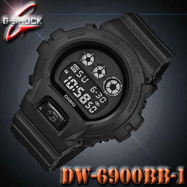 CASIO G-SHOCK DW-6900BB-1 カシオ Gショック 腕時計 ブラック 黒 【国内 DW-6900BB-1JF と同型】 海外モデル【新品】『宅配便』で全国*送料無料*
