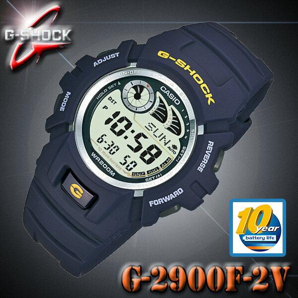 CASIO G-SHOCK G-2900F-2V カシオ Gショック デジタル 腕時計 ネイビーブルー【電池寿命 10年】海外モデル【新品】『宅配便』で全国*送料無料*ジーショック