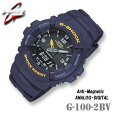 CASIOG-SHOCKG-100-2BVカシオGショックアナデジ耐磁(JIS1種)腕時計ネイビー【国内G-100-2BMJFと同型】海外モデル【新品】