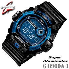 CASIOG-SHOCKG-8900A-1カシオGショックメンズ腕時計黒青ブラック×ブルー【国内G-8900A-1JFと同型】海外モデル【新品】