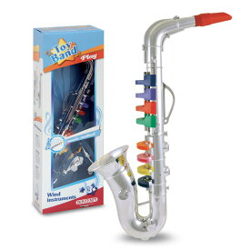 Bontempi / トイサックス パート2 (SX4331.2 / 324331) 8keys 42cm おもちゃのサックス シルバーサックス イタリア製 【正規輸入品】 ボンテンピ