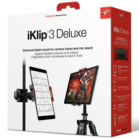 IK Multimedia(アイケーマルチメディア) / iKlip 3 Deluxe - マイクスタンド用マウントホルダー カメラ三脚用マウントホルダー タブレット・ホルダー -