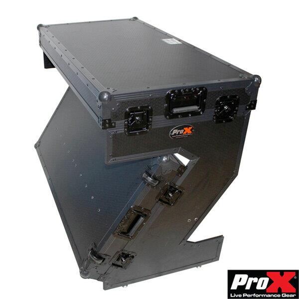 ProX / Portable Z-Style Dj Table Flight Case フライトケース型で運搬しやすい キャスター付きDJテーブル
