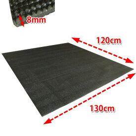 低反発 エクササイズマット (FDM-01) 厚さ:8mm 筋トレ・ヨガ・ダンス・エクササイズ に最適!防音効果・柔らかくてゆったりサイズ 【サイズ:約130cm x 120cm x 0.8cm】
