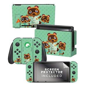 【メール便/送料無料】 Controller Gear / animal crossing (つぶきち まめきち たぬきち) 海外限定品 任天堂公式ライセンス品 / Nintendo Switch用 ドックスキン シール 【あつまれ どうぶつの森】