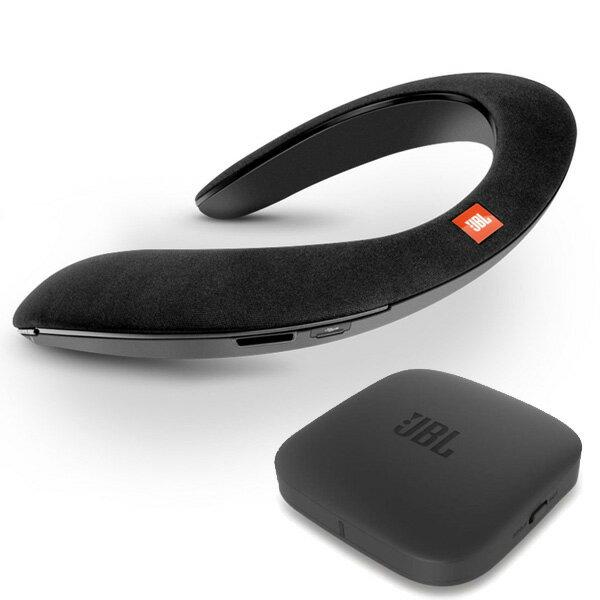 JBL(ジェービーエル) / SOUNDGEAR BTA (BLACK) 【Bluetoothオーディオ (BTA) 送信機機付属】 - VRにオススメ 個人用ワイヤレススピーカー / ウェアラブルネックスピーカー 直輸入品
