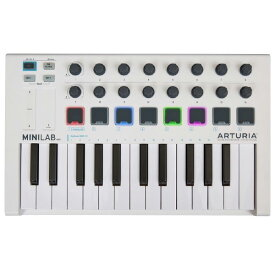 Arturia / MINILAB MK2 (WHITE) MIDIコントローラー 【Analog Lab Lite / Ableton Live Lite / UVI Grand Piano Model D バンドル】【アートリア】
