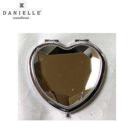 Danielle / 0357 (クローム) 拡大鏡 [鏡面 5.5cm x 5cm] 【2倍率/等倍率】 ハート型コンパクトミラー 【ダニエル】