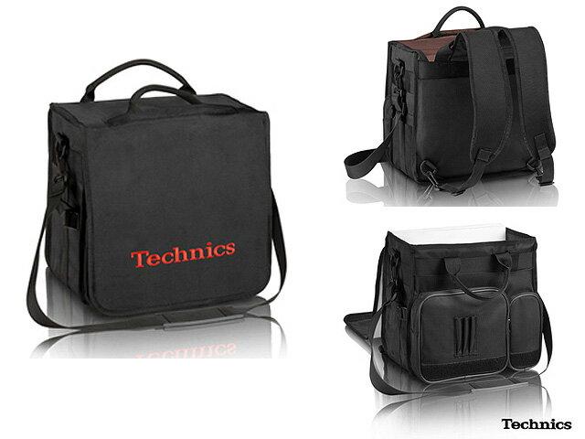 Technics(テクニクス) / BackBag (Black/Red) 【レコード約60枚収納可】 - レコードバッグ -