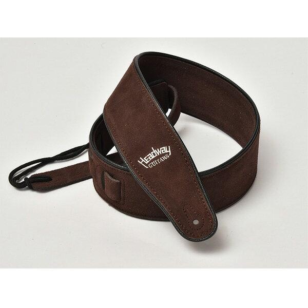Headway(ヘッドウェイ) Suede Leather Strap HW-5000 (Dark Brown) ギターストラップ