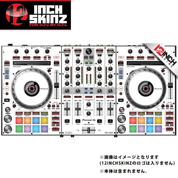 12inch SKINZ / Pioneer DDJ-SX3 SKINZ(White/Black) 【DDJ-SX3用スキン】