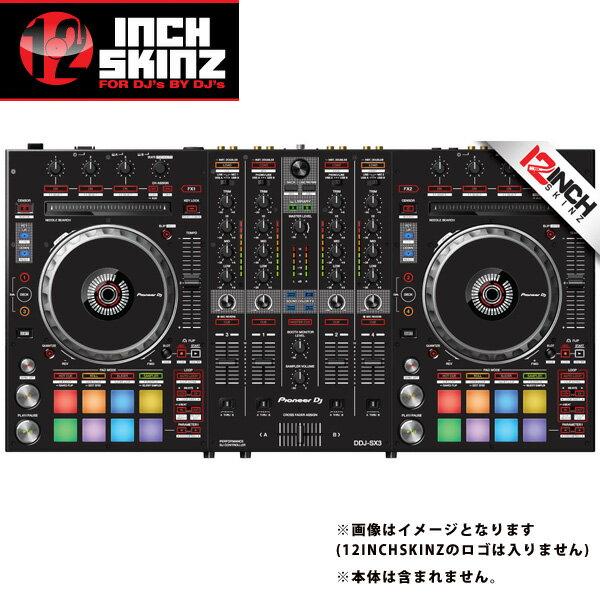 12inch SKINZ / Pioneer DDJ-SX3 SKINZ(Black) 【DDJ-SX3用スキン】