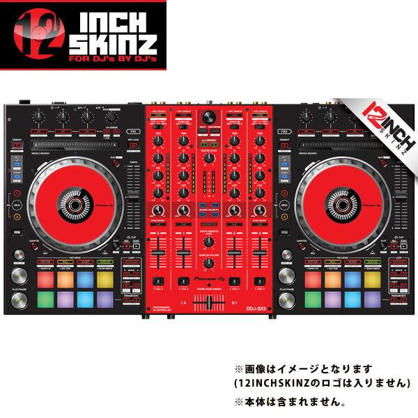 12inch SKINZ / Pioneer DDJ-SX3 SKINZ(Black/Red) 【DDJ-SX3用スキン】