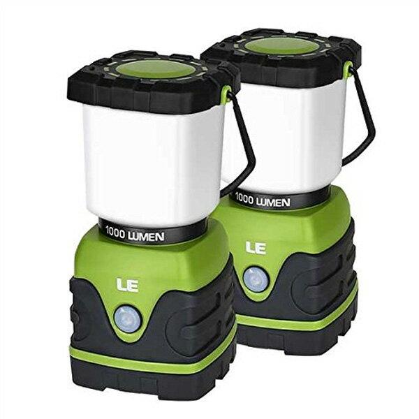 【2個セット】 LE(Lighting EVER) / LED Camping Lantern 1000lm 調光機能付 LED ランタン 電池式 IPX4防水 直輸入品