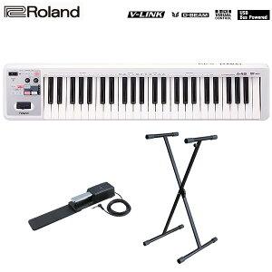 大特典付 【キーボードスタンドセット】 Roland(ローランド) / A-49-WH MIDI Keyboard Controller (ホワイト) - MIDIキーボード・コントローラー -