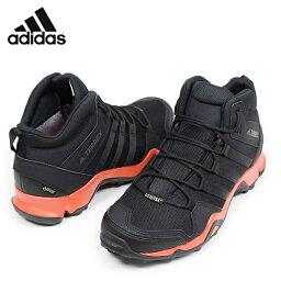 供adidas愛迪達TERREX AX2R MID GORE-TEX人山間途步鞋[BLACK/ORANGE]電傳戈爾紡績品戶外登山徒步旅行鞋男性使用的鞋黑S80913樂天郵購