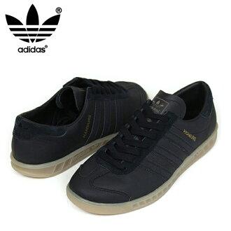 供adidas阿迪达斯HUMBURG人运动鞋[BLACK/GUM]汉堡人黑色口香糖鞋底皮革男性使用的S74835乐天邮购