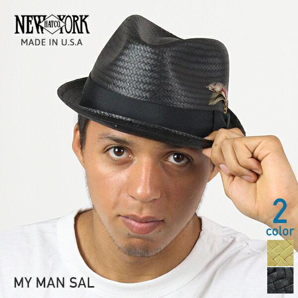 NEW YORK HAT ニューヨークハット My Man Sal ストローハット 全2色 サル 麦わら帽子 バンブー ブラック メンズ レディース 中折れ 帽子 ぼうし サマーハット アメリカ製 男性用 MADE IN USA #2158 送料無料 楽天 通販 【RCP】