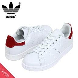 供adidas愛迪達STAN SMITH W女士運動鞋[WHITE/RED PONY]Stan Smith白紅腸共矮種馬皮革書皮革女性使用的鞋S75562樂天郵購