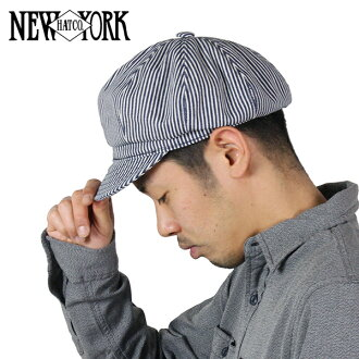 NEW YORK HAT New York hat Hickory Spitfire [WHITE/NAVY] hickory stripe casquette cotton hat men gap Dis #6305