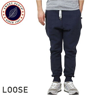 SWEET PANTS Suite pants Loose Pants sweatpants [NAVY] mens ladies Navy Blue women's harem pants loose fit suet French Terry France P16Sep15