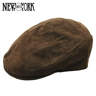NEW YORK HAT Suede 1900 (New York Hat hunting Cap with suede brown hat in men's women's #9233)