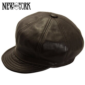 NEW YORK HAT Lambskin Spitfire (the Brown mens Womens Hat New York Hat lambskin leather newsboy Brown #9207)