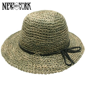 NEW YORK HAT Sea Grass Framer (shade for women natural straw hat ladies, New York Hat straw hat of シーグラスフレーマー #7117)