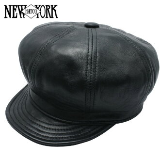 NEW YORK HAT Lambskin Spitfire (New York Hat lambskin leather newsboy black mens ladies Hat #9207)