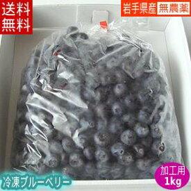 冷凍ブルーベリー(加工用)1kg【送料無料】国産!農薬不使用!岩手県遠野市産【送料込み】02P03Sep16※沖縄・離島は送料無料の適用外です