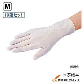 アズワン プロシェア プラスチック手袋 パウダーフリー Mサイズ 10箱セット (1箱/100枚入り) <8-9569-52> 【プラスチック手袋 使い捨て 生地 薄め 粉無し パウダー無し 作業手袋 衛生用品】